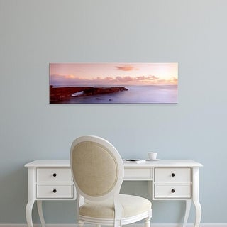 Easy Art Prints Panoramic Images's 'Rock formations in ocean, La Jolla, San Diego, California, USA' Premium Canvas Art