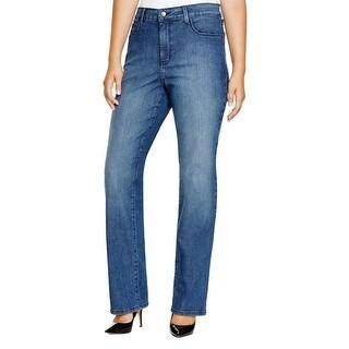 NYDJ Womens Straight Leg Jeans Medium Wash Cotton - 16W