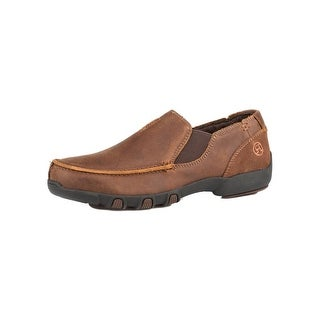 Roper Western Shoes Boys Buzzy Leather Brown