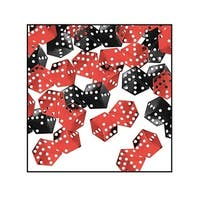 Pack of 6 Black and Red Casino Dice Celebration Confetti Bags 0.5 oz.