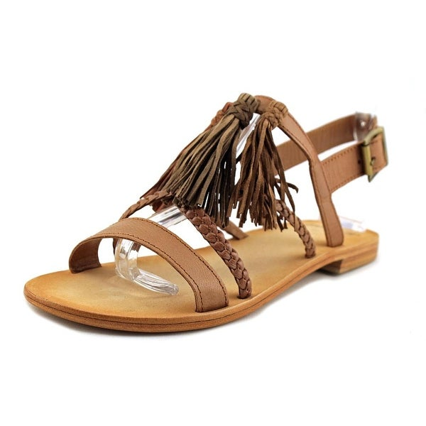 MTNG 94437 Open-Toe Leather Slingback Sandal