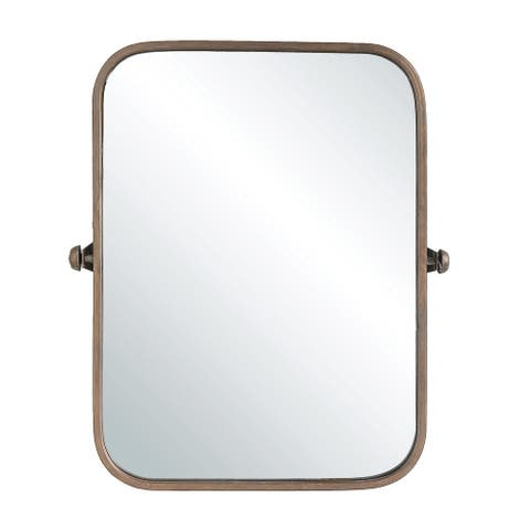 Metal Framed Pivoting Wall Mirror - Copper