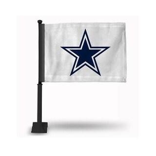 RicoIndustries FGK1806 Dallas Cowboys Car Flag with Black Pole