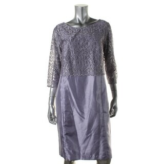 R&M Richards Womens Petites Metallic 2PC Dress With Jacket