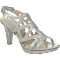 Naturalizer Women's Danya Sandal Silver Crosshatch Patent PU