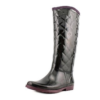 Tommy Hilfiger Vintage Women Round Toe Synthetic Black Rain Boot
