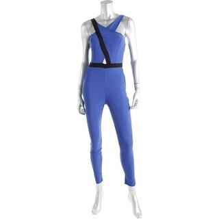 Material Girl Womens Juniors Cutout V-NECK Jumpsuit