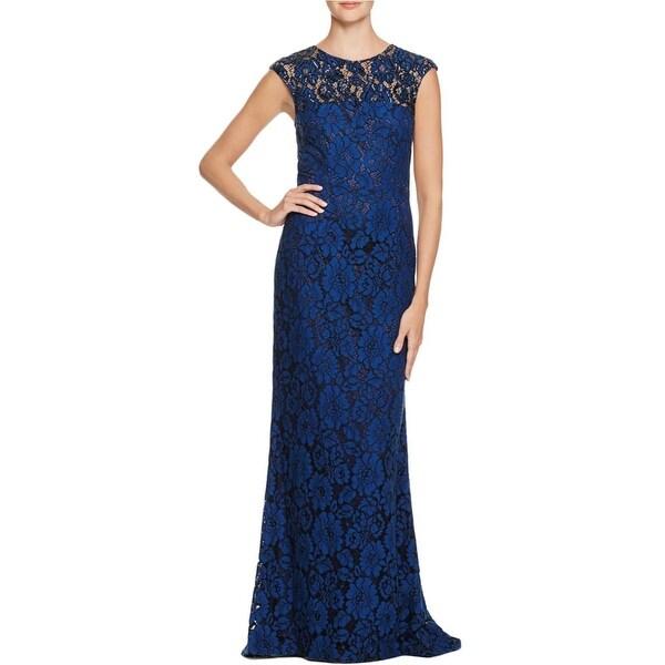 Shop Carmen Marc Valvo Womens Semi Formal Dress Lace Embellished