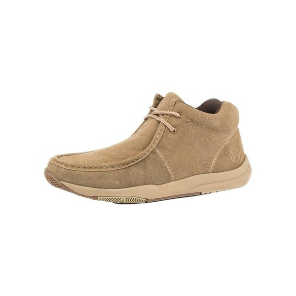Roper Western Shoes Mens Suede Leather Tan