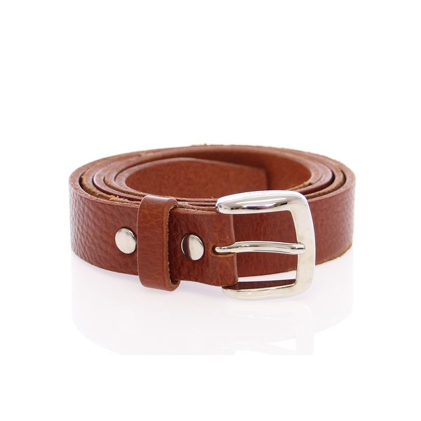 Dolce & Gabbana Brown Leather Logo Belt