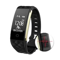 Image IP67 Waterproof Touch Screen Fitness Tracker Music Control Heart Rate Sleep Monitor Wrist Band
