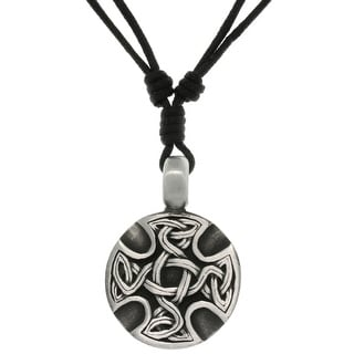 Link to Pewter Unisex Celtic Medallion Adjustable Cord Necklace Similar Items in Intimates