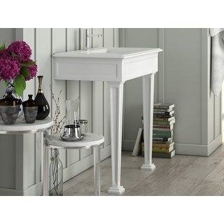 """Link to Parisian 36"""" Matte White or Black Rectangular Console Bathroom Sink Similar Items in Sinks"""
