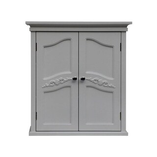 Elegant Home Fashions ELG-549 Versailles Wall Cabinet with 2 Doors