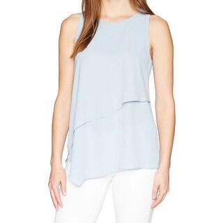 Karen Kane Sea Glass Blue Womens Size Medium M Asymmetrical Tank Top