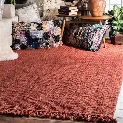 nuLOOM Handmade Braided Jute Reversible Rug