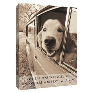 """PTM Images 9-154928  PTM Canvas Collection 10"""" x 8"""" - """"Where you go"""" Giclee Dogs Art Print on Canvas"""