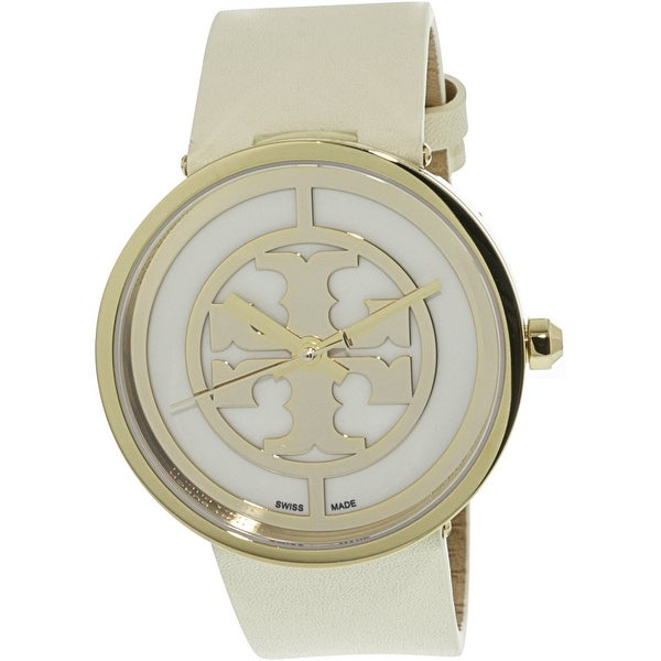 485a7dea5 Shop Tory Burch Women's Reva Gold Leather Quartz Fashion Watch - Free  Shipping Today - Overstock - 20490050