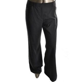 DKNY Womens Chelsea Wool Heathered Trouser Pants - 2