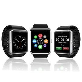 Indigi® GT8 2-in-1 Universal SmartWatch & Phone - Bluetooth Sync 3G Unlocked w/ Camera + SIM Slot + Pedometer (Silver)