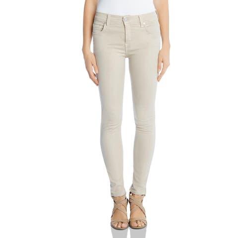 Karen Kane Womens Zuma Skinny Jeans Twill Mid-Rise - Wheat