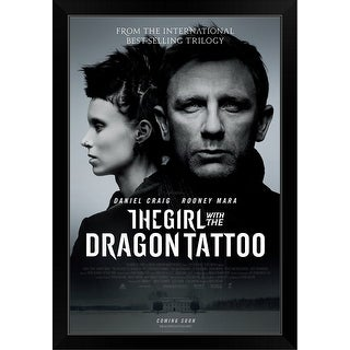 The Girl With The Dragon Tattoo Movie Poster Black Framed Print Overstock 30200166