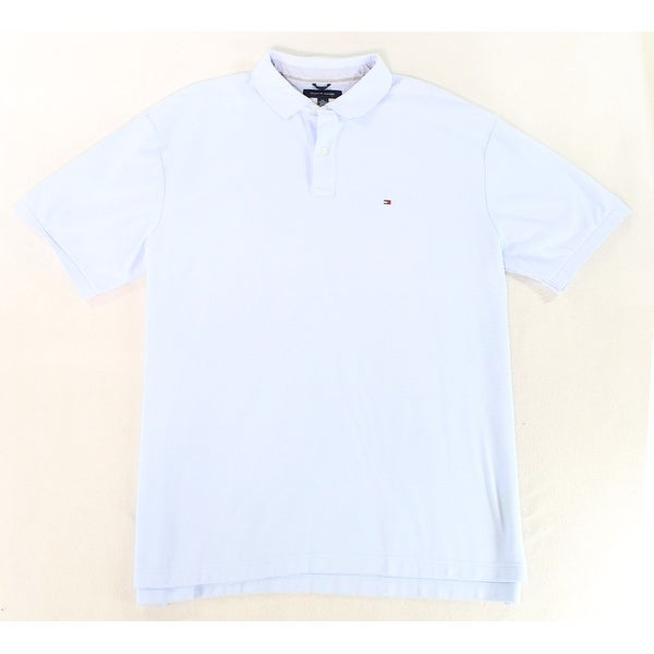 Tommy Hilfiger New Light Blue Mens 2xl Short Sleeve Polo Rugby Shirt