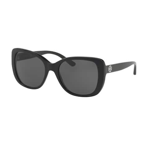 Tory Burch Rectangle TY7114 Women's BLACK Frame DARK GREY SOLID Eyeglasses