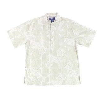 Ono & Company NEW Green Mens Size Medium M Button Down Hawaiian Shirt