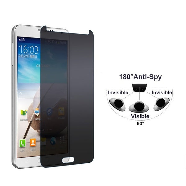 Privacy Glass Tempered Glass for Samsung Note 3 - black