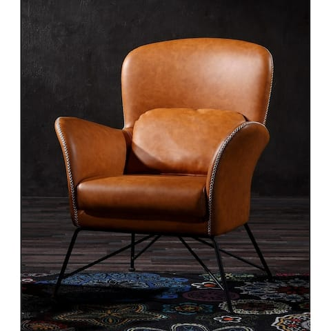 Modrest Kirk Modern Brown Eco-Leather Accent Chair