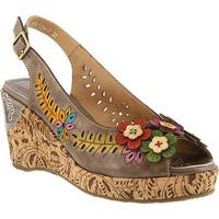 L'Artiste by Spring Step Women's Tuttifrutti Slingback Taupe Leather