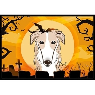 Carolines Treasures BB1786MAT Halloween Borzoi Indoor & Outdoor Mat 18 x 27 in.