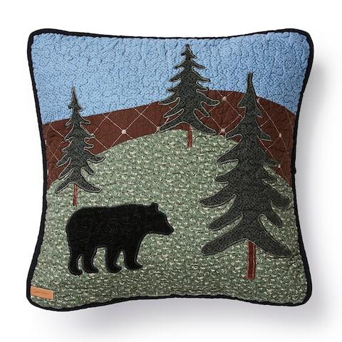 Donna Sharp Bear Lake Square Decorative Pillow
