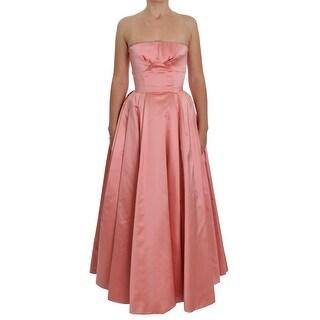 Dolce & Gabbana Dolce & Gabbana Pink Silk Ball Gown Full Length Dress - it36-xs