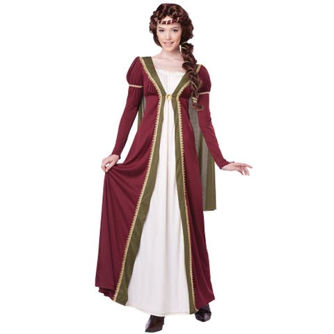 6057ea88063 California Costumes Medieval Maiden Adult Costume - Red Green