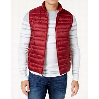 Michael Kors NEW Red Mens Size Small S Channel Quilted Vest Jacket