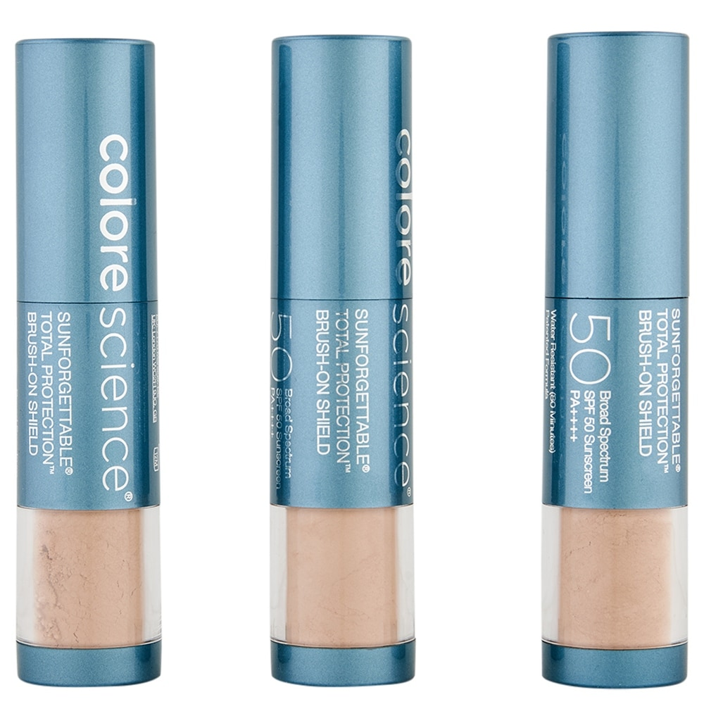 ColoreScience Sunforgettable Total Protection Brush-On Shield SPF 50 Multipack Tan (Blue - Facial Sunscreen)