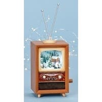 "10.5"" Amusements LED Lighted Animated and Musical Retro Christmas Television Set"