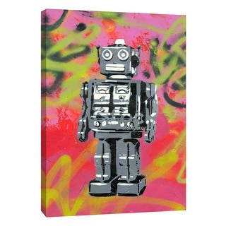 """PTM Images 9-105943  PTM Canvas Collection 10"""" x 8"""" - """"Robot"""" Giclee Abstract Art Print on Canvas"""