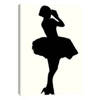 """PTM Images 9-108917  PTM Canvas Collection 10"""" x 8"""" - """"Fashion Icon Series 1920's"""" Giclee Silhouettes Art Print on Canvas"""