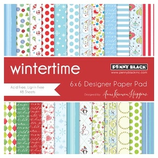 "Penny Black Single-Sided Paper Pad 6""X6"" 48/Pkg-Wintertime"