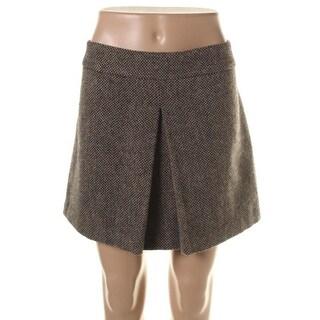 Theory Womens Kasika Wool Tweed A-Line Skirt - 12