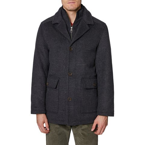 Hickey Freeman Brushstroke Wool-Blend Coat - GRY
