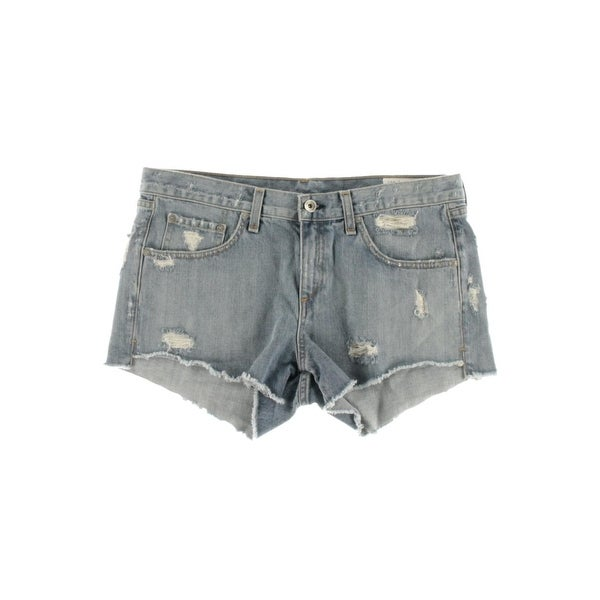 9581717921 Shop Rag & Bone/JEAN Womens Cutoff Shorts Destroyed Raw Hem - Free ...