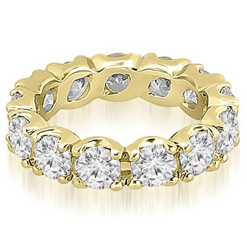 14K Yellow Gold 4.25 cttw. Round Diamond Eternity Ring HI,SI1-2