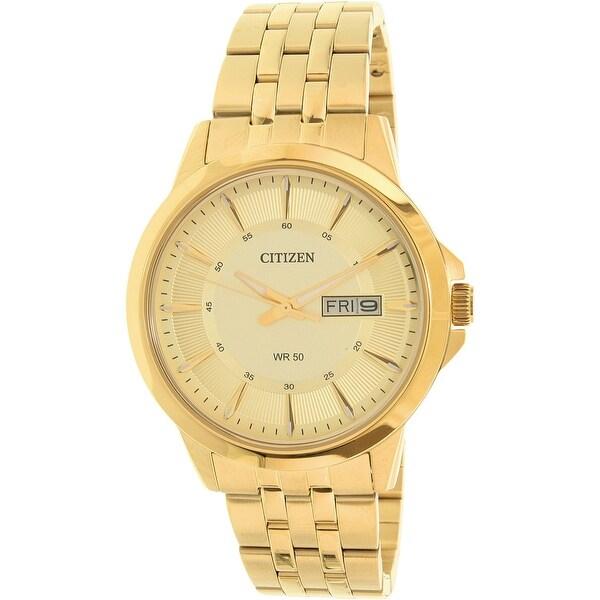 1719ee84dc8c4 Citizen Men  x27 s Gold Stainless-Steel Plated Japanese Quartz Dress Watch