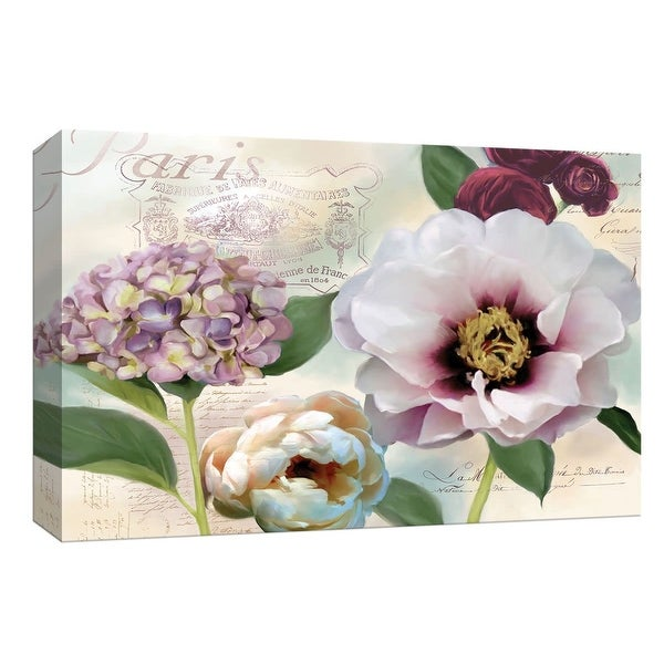 """PTM Images 9-148000 PTM Canvas Collection 8"""" x 10"""" - """"Soft Petals I"""" Giclee Flowers Art Print on Canvas"""