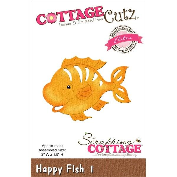 "CottageCutz Elites Die -Happy Fish #1, 2""X1.5"""