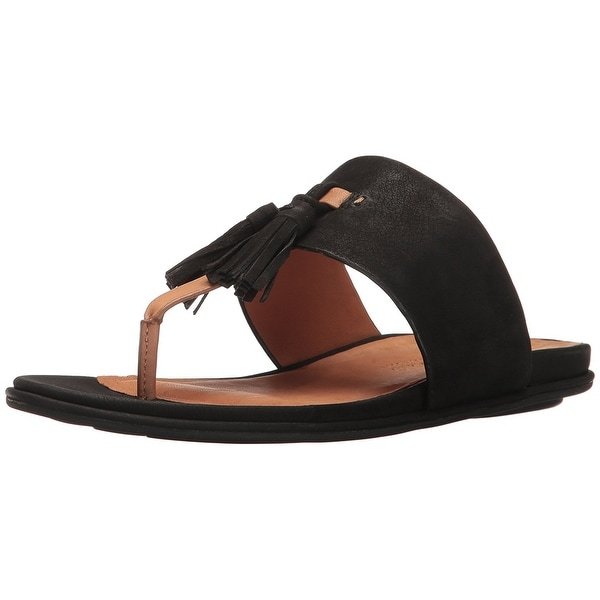 Gentle Souls Womens Ottie Open Toe Casual Slide Sandals, Black, Size 6.0